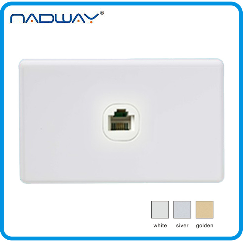 modern home universal 1 gang computer network switch