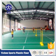 Movable Litch PVC Vinyl Rolled Badminton Sports Flooring