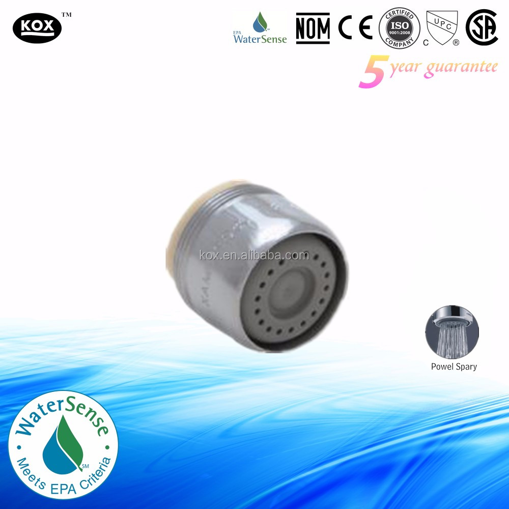 0.5 or 1.0GPM dual thread water saving bathroom aerator
