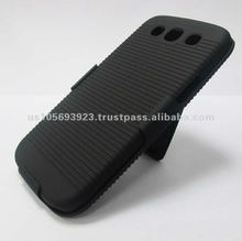 For Samsuny i9300 With Back Stand Holder Black Hard Case Cover Skin