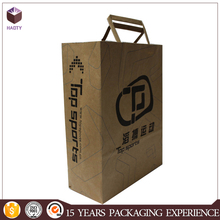 Recycled brown paper bag with logo print decorate