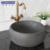 Unique bathroom black limestone natural stone round wash basin/ stone sink