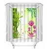 Scenery outside the window design 3D digital print shower curtain