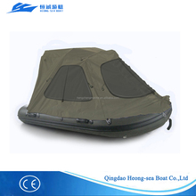 3.3meter pvc inflatable pedal boat for fishing, diving, camping, sailing with tent