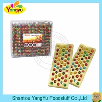 Halal chocolate rainbow colorful crispy mini chocolate beans