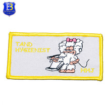Custom logo high quality cute embroidery sheep patches for sale