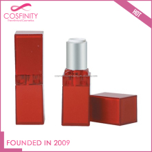 Free sample metalization red dull polish cosmetic lipstick tube for sale