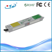 Newest design SMPS ip67 12v 2a lpv waterproof electronic led driver 24w trasformer with CE FCC