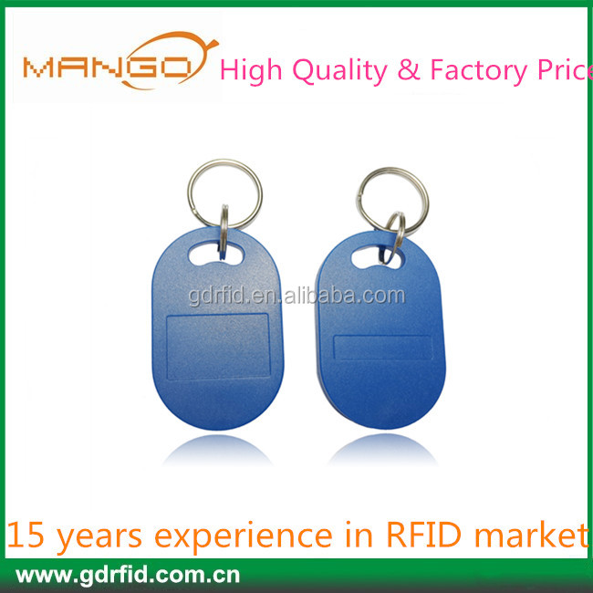 2015 125KHz/13.56MHz PVC RFID keychain ket tag key fob for access management