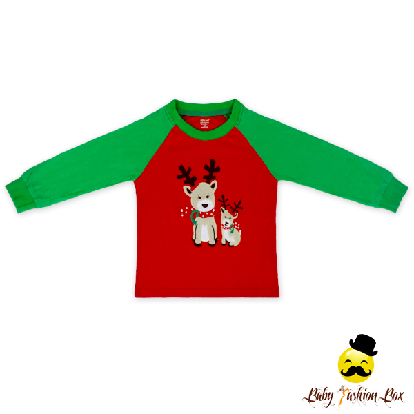 Stock !66TQZ371 Yihong Wholesale Children's Christmas Outfit Newborn Baby Clothing Set Wholesale Name Brand Clothing