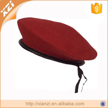 Wool red army hat military french cap ladies military beret