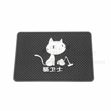 Customized colorful soft pvc mobile phone mats silicone anti slip car mats with minimum