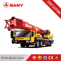 SANY QY50 50 Tons Used Hydraulic Crane for sale Second Hand Mounted Crane of 2011 Year with EURO III