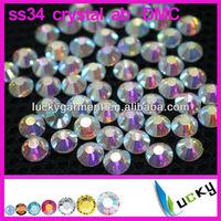 Factory price A+ quality DMC flat back hotfix faux diamant iron on strass cristal beads