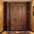 Mother and son door solid wood Main door
