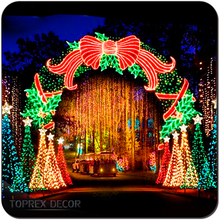 New year metal garden arch led christmas lights outdoor