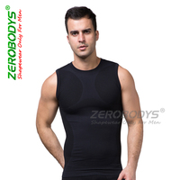 2016 new style men bullet proof vest shapewear latex waist cincher slimming sexy vest for men