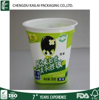 5oz Disposable PS plastic cups coated with paper for packging yogurt