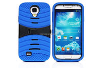 cell phone case For Sumsang Galaxy S4 i9500 Electric wave line heavy duty shock proof silicon stand case