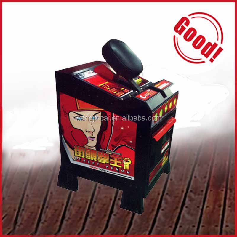 cheap price redemption amusement King of hammer hitting arcade game machine boxing punch with lottery ticket for game center
