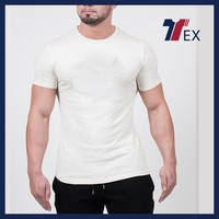 2016 top quality custom blank fitness gym tshirt from clothing factories in china