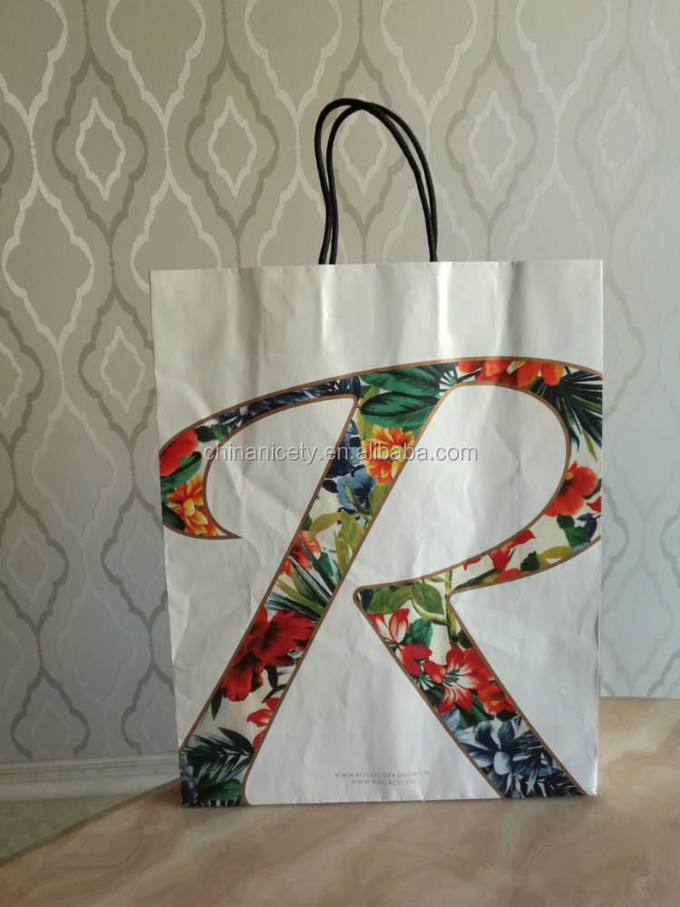 ECO fashion paper shopping bags for suits