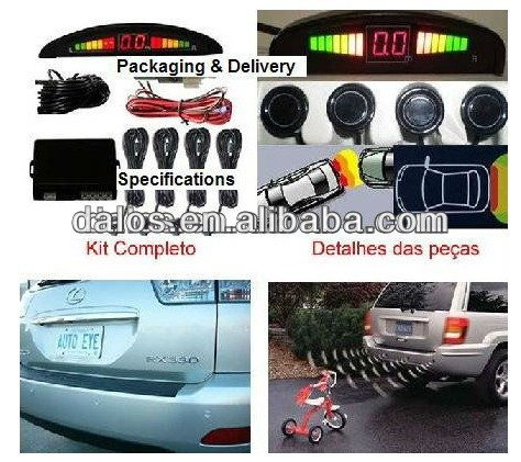 heavy duty video parking sensor/radar system with 0.4-10m detection