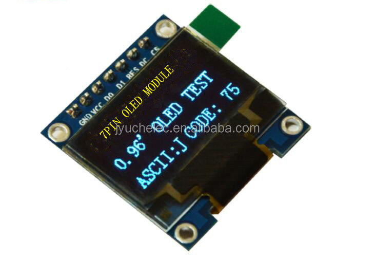 Jekewin 0.96 Inch I2c IIC SPI Serial 12864 128X64 OLED Display Module for Arduino Raspberry with 4 Pin Font Color Yellow/&Blue