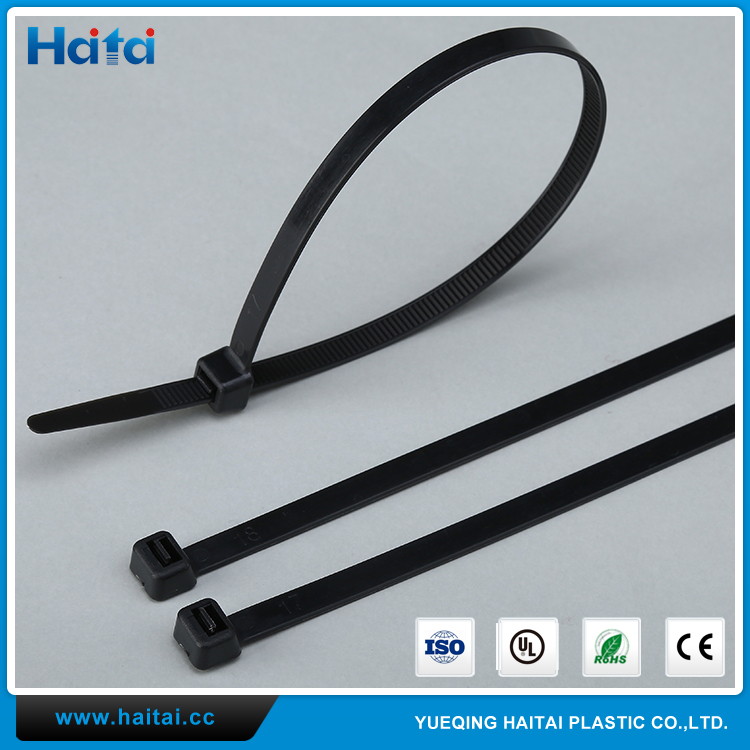 Haitai Most Popular Low Profile Multi Color DIY Package Customize Plastic Cable Ties Wraps