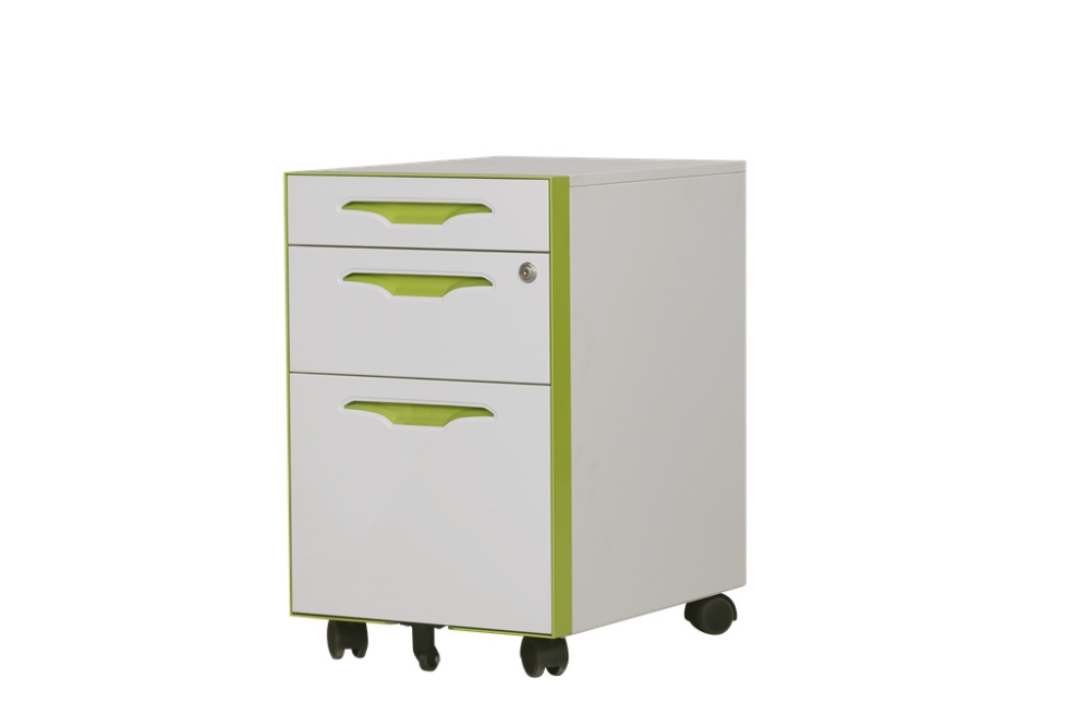 Office furniture 3 drawer steel file storage cabinet /mobile dental clinic cabinet