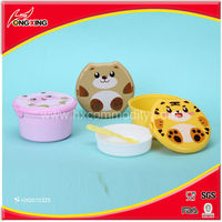 Cute Cartoon Kids Lunch Box Plastic 2-layer Food Storage Lunch