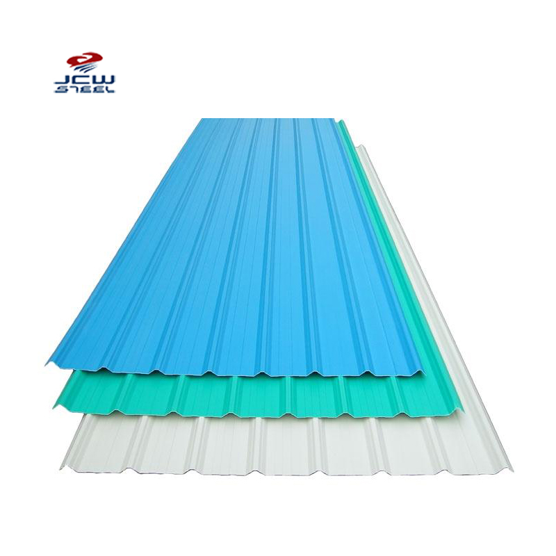 Construction Roof Prepainted Color Zinc Coated Corrugated Metal Steel Roofing Sheet