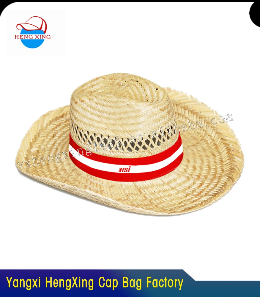 100% straw nature color man cowboy hat