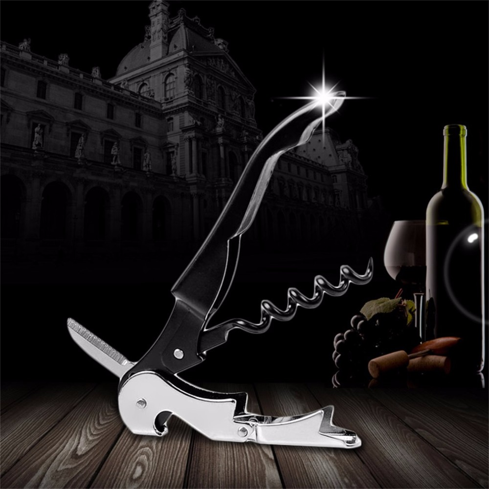 Stainless Steel Cork Screw Corkscrew MultiFunction Wine Bottle Cap Opener