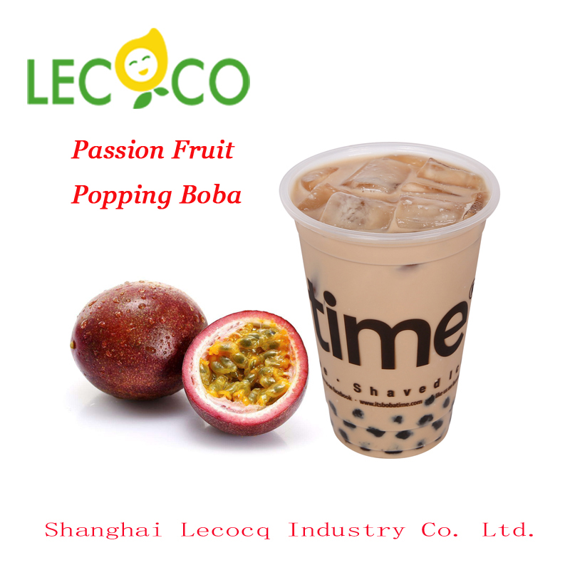 Taiwan Passion Fruit Flavor Popping Juice Balls Bursting Boba Tapioca Pearls For Health Bubble Tea Drinks