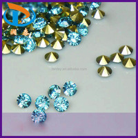 High Discount SS28(6.0-6.2mm) Lake Blue Crystal Pointed Back Jewelry Acrylic Stones
