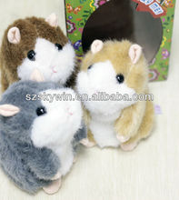 Mimicry Pet Speak Talking Sound Record Electronic Hamster Plush Toy