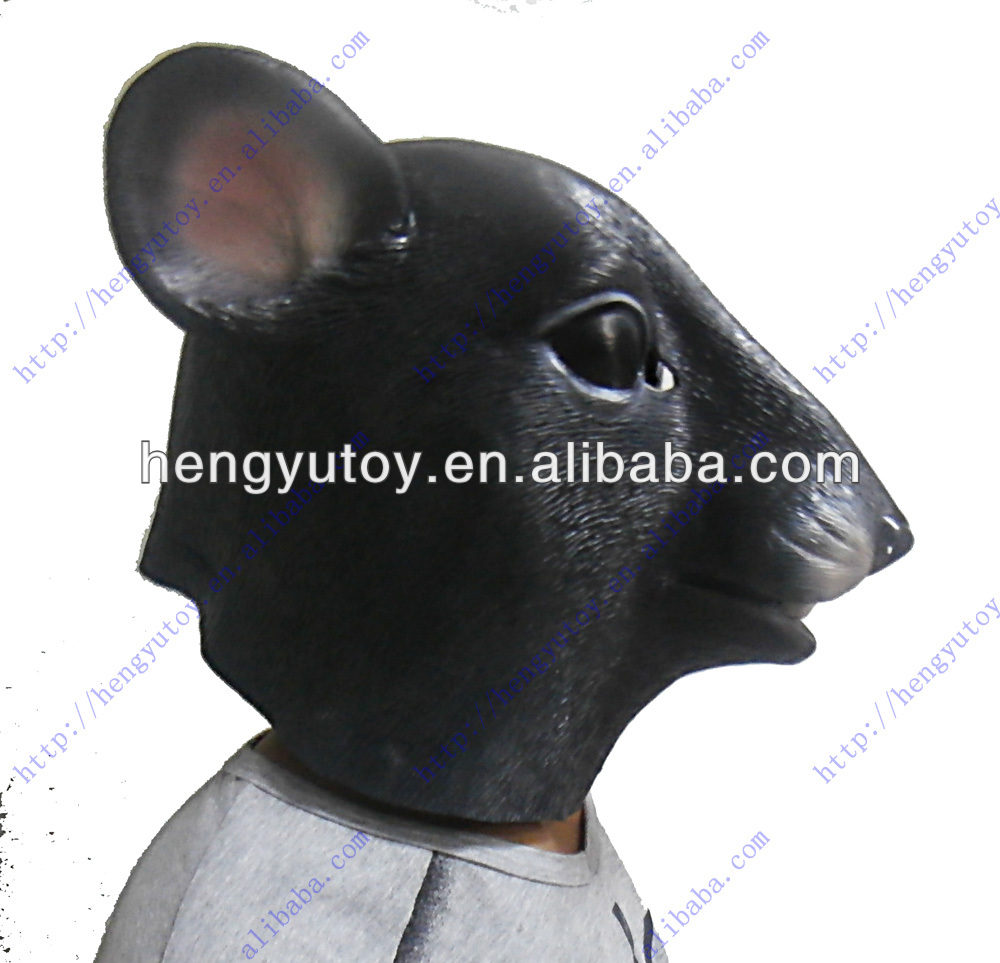 Newly Realistic Animal Head Mask Party Fancy Dress Natural Rubber Latex Hamster Head Mask