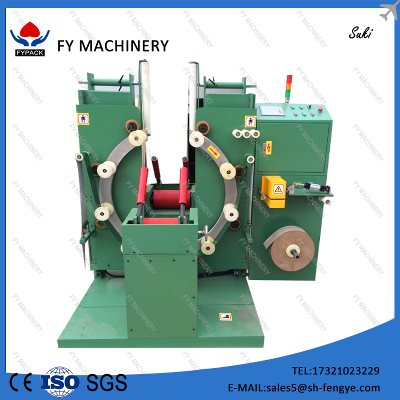 vertical type rubber tube/copper wire/steel wire coil wrapping machine