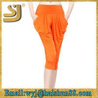 cool skinny drop crotch pants 3/4 harem pants