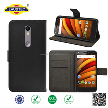 PU Leather Wallet Case for Motorola Moto X Force Flip Stand Cover