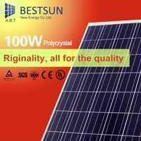 A grade Poly 100W 12V solar panel with mounting aluminum rail supplier in china sola panels for home