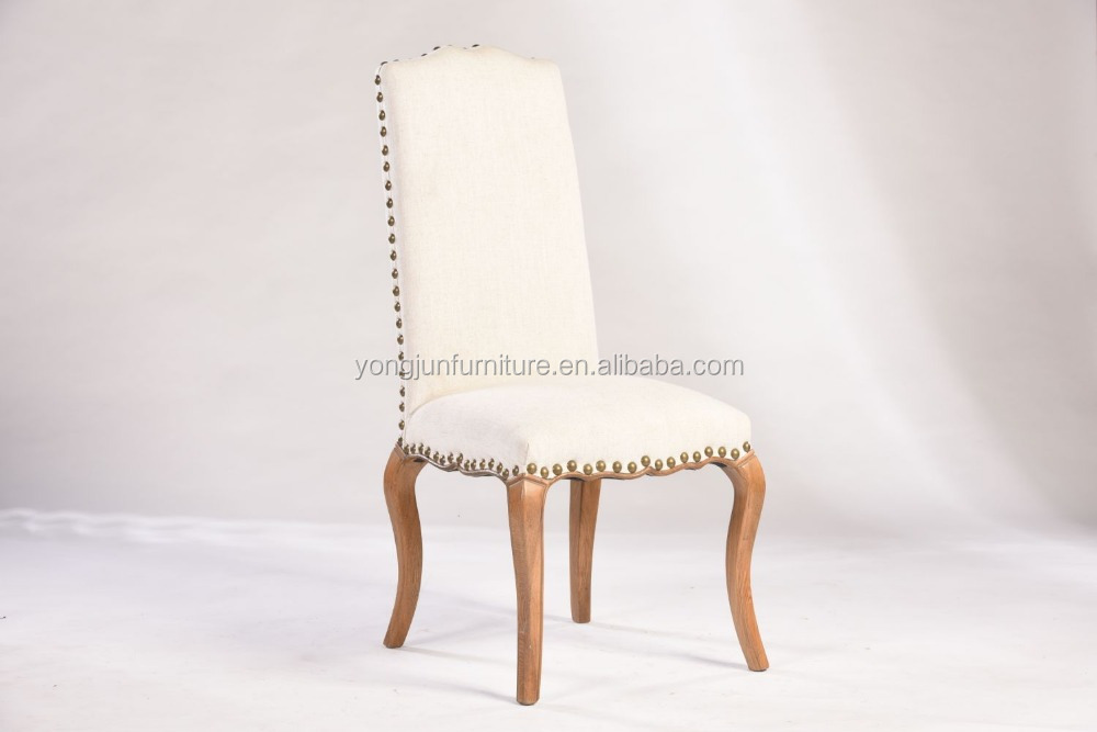 French Victorian Tufted provincial Wood dining chair(YJ-8019)