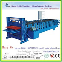 ce certificate glazed tiles forming automatic color coated steel sheet metal roofing sheet forming machine