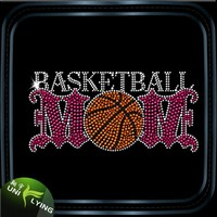Sports Design Basketball Rhinestone Trasnfer Bling
