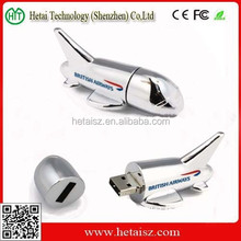Metal airplane shaped memory stick usb flash drive 4GB 8GB 16GB 32GB pen drive with your logo print