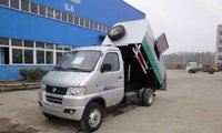 Mini dongfeng dump garbage truck gasoline engine