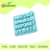 2014 New Novelty Design Alphabet Letter Silicone Fondant Chocolate Mold