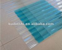 2012 new corrugated polycarbonate roofing sheet