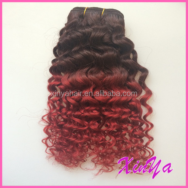 Fashion Hairstyle 7a Brazilian Virgin Hair Deep Wave coloered two tone 24 Inch Virgin Remy Brazilian Hair Weft